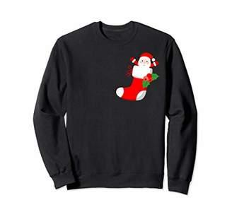 Christmas Santa In Sock crewneck sweatshirt