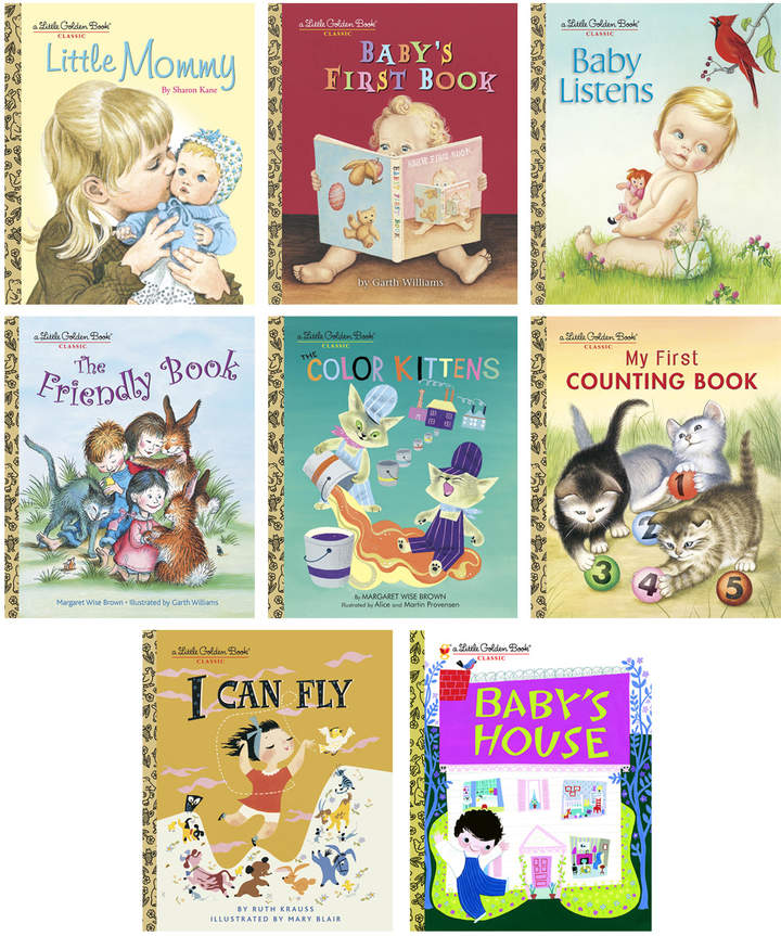 Classic Baby Little Golden Books Set of 8