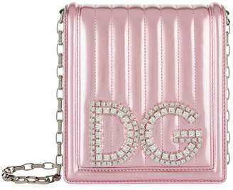 Dolce & Gabbana Metallic Leather Girls Cross Body Bag