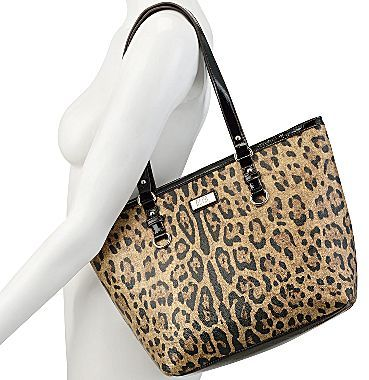 JCPenney 9 & Co.® Wild Mannered Leopard-Print Tote