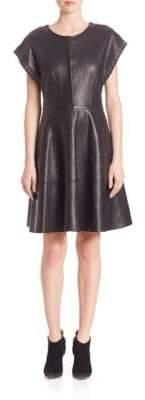 SET Leather Lace-Up Dress