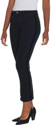 Logo By Lori Goldstein LOGO by Lori Goldstein Straight Leg Colored Jean w/ Tuxedo Stripe