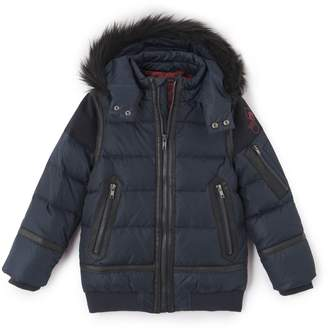Ikks JUNIOR Padded Jacket with Faux Fur Hood, 3-14 Years