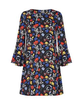 Yumi Curves Retro Floral Tunic Dress