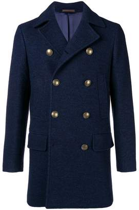 Eleventy double-breasted fitted coat