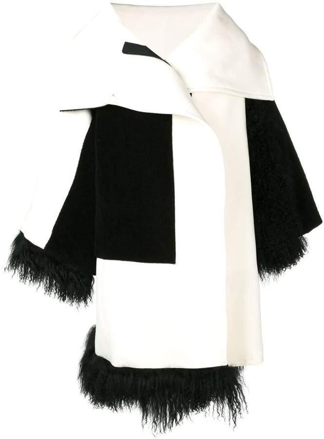 faux fur trim coat