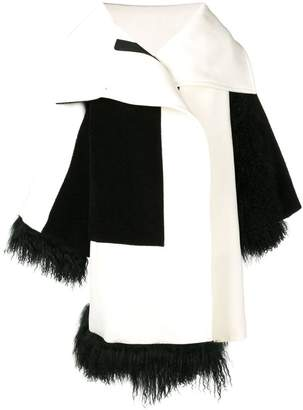 Gianluca Capannolo faux fur trim coat