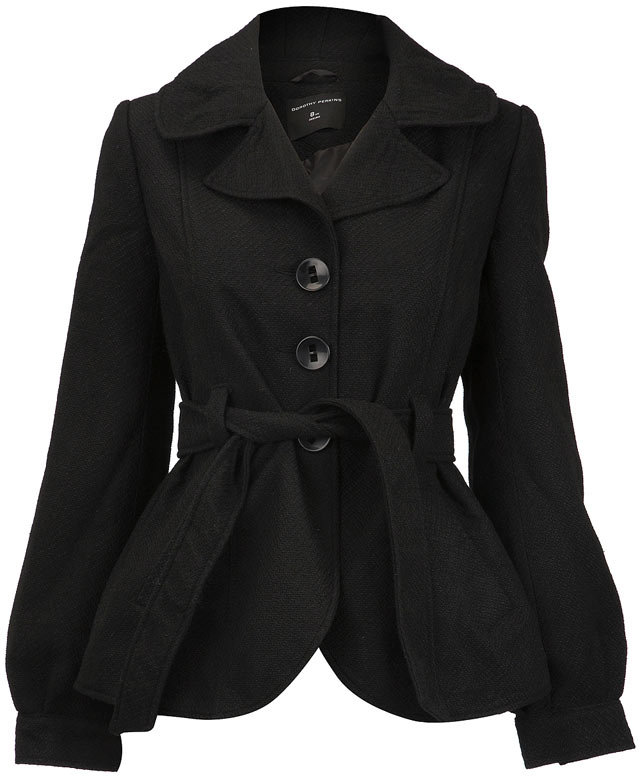 Black single breasted coat