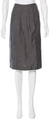 Jason Wu Knee-Length Linen-Blend Skirt
