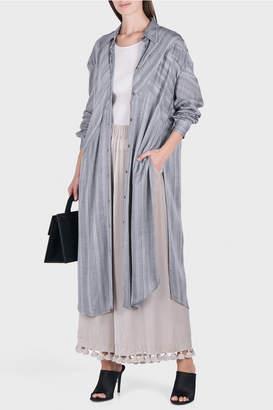 Laura Siegel Button Up Textured Stripe Dress