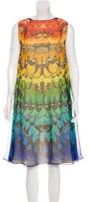 Alexander McQueen Silk Butterfly Print Dress w/ Tags