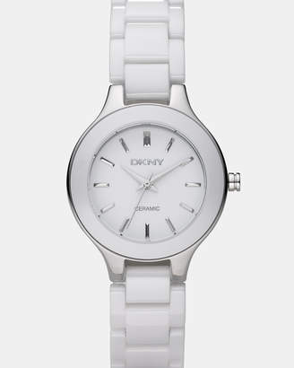 DKNY Chambers White Analogue Watch