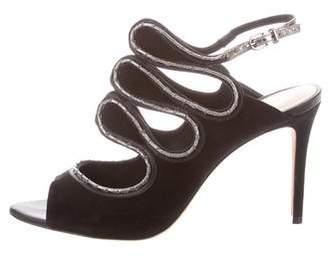 Alexandre Birman Cutout Ankle Strap Sandals