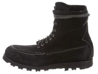 Officine Creative Round-Toe Ankle Boots