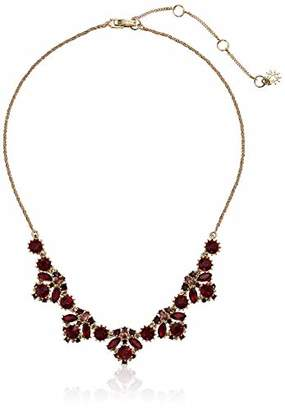 Marchesa Women's Gold Tone/Blue Frontal Necklace