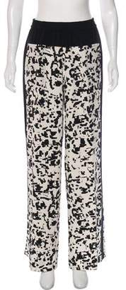 Vince Silk Printed Wide-Leg Pants