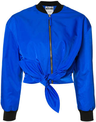 Moschino tie front bomber jacket