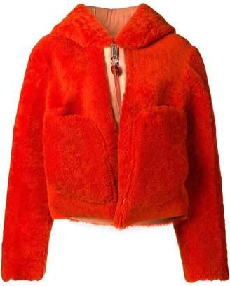 Diesel hooded shearling coat