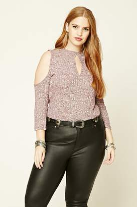 Forever 21 Plus Size Open-Shoulder Top