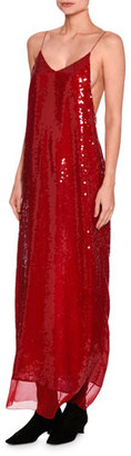Stella McCartney Bernice Sequined Cami Gown, Red $3,195 thestylecure.com