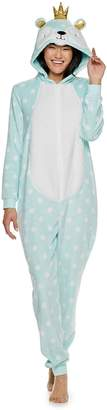 Peace Love & Fashion Juniors' Peace, Love & Fashion Bear One-Piece Pajamas
