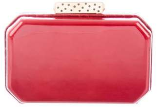 Cartier Python-Trimmed Patent Leather Clutch