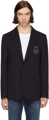 Dolce & Gabbana Navy Embroidered Blazer