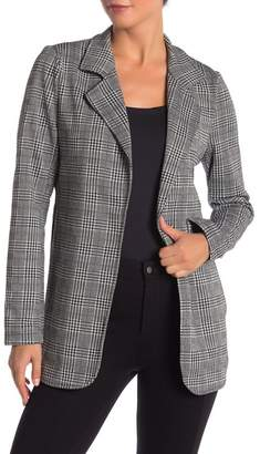 Modern Designer Fitted Knit Patterned Long Blazer