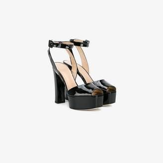Giuseppe Zanotti Design Ladies Black Patent Leather Betty 130 Sandals, Size: 36.5