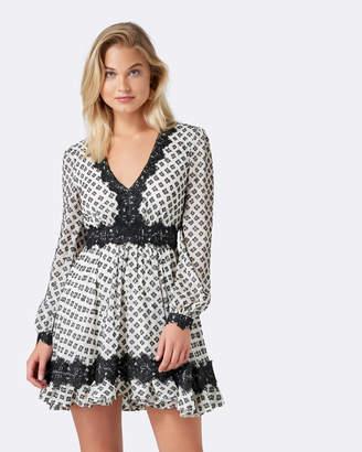 Forever New Ivy Flocked Day Dress