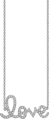 Sydney Evan Medium Love Script Necklace