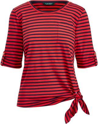 Ralph Lauren Striped Knotted T-Shirt