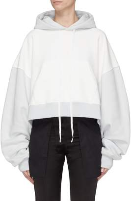 Taverniti So Ben Unravel Project Colourblock extra long sleeve cropped hoodie