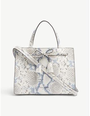 Kate Spade Hayes Street snake-embossed leather satchel bag