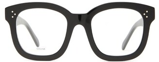 Celine Oversized Acetate Glasses - Womens - Black