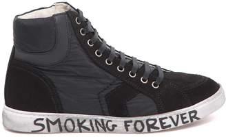 Saint Laurent Smoking Forever Joe Mid Top Sneaker