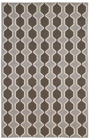 DwellStudio Chelsea Stripe Major Brown/Dove Rug