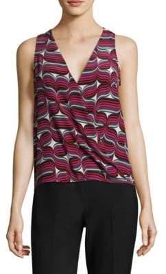 Trina Turk Krisna Silk Print Blouse