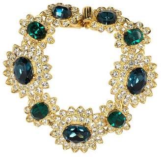Kenneth Jay Lane Sapphire And Emerald Bracelet