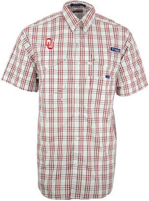 Columbia Men Short-Sleeve Oklahoma Sooners Button-Down Shirt