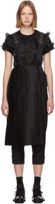 Noir Kei Ninomiya Black Pleated Suspenders Skirt