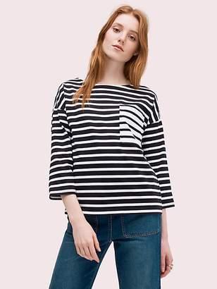 Kate Spade Stripe contrast pocket tee