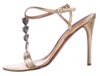 Alaia Metallic Embellished Sandals