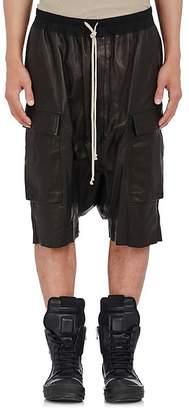 Rick Owens Men's Pod Leather Cargo Shorts