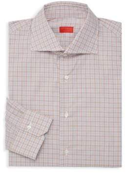 Isaia Printed Dress Shirt