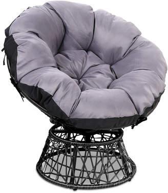 Dwell Outdoor Henri PE Wicker Outdoor Papasan Chair