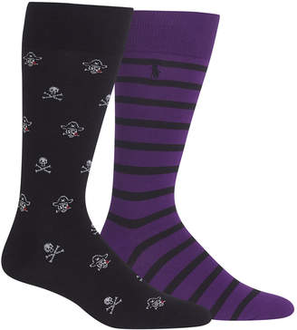 Polo Ralph Lauren Men's 2-Pk. Skull Pirate Socks