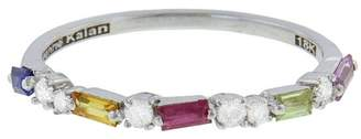 Suzanne Kalan Rainbow Sapphire Baguette Ring - White Gold