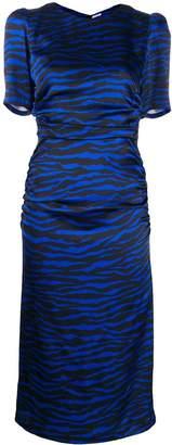 P.A.R.O.S.H. Printed Zebra Satin Dress