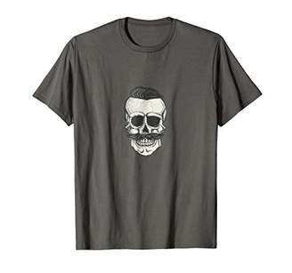 Vintage Skull With Mustache T-shirt